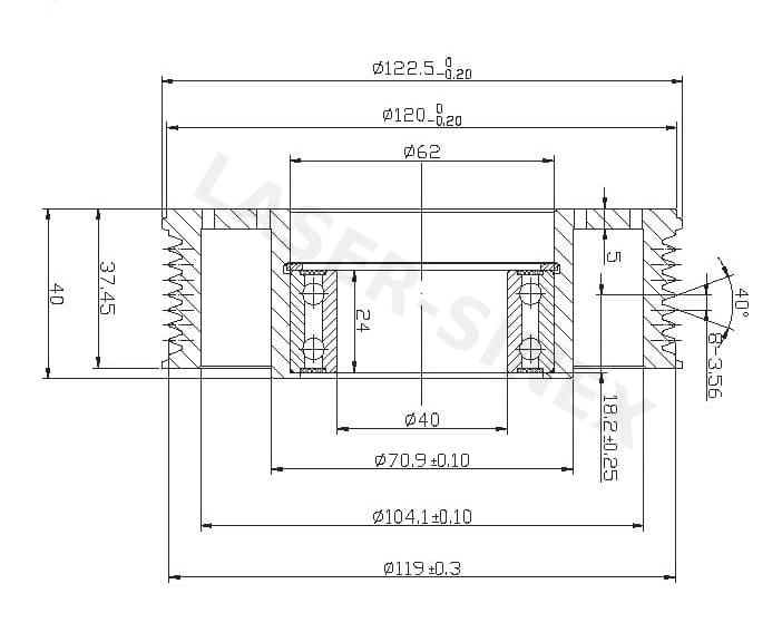 Koło pasowe sprzęgła sprężarki klimatyzacji SANDEN SD508 / SD5H14, koło  pasowe sprężarki autoklimatyzacji, koła pasowe sprzęgieł