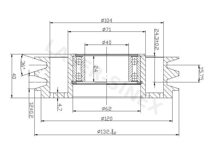 Koło pasowe kompresora klimatyzacji SANDEN SD508 / SD5H14, koła pasowe i  napędowe do sprężarek Sanden, koła pasowe kompresorów klimatyzacji,